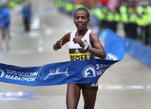 Maratón de Boston Ganadora Degefa