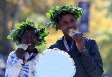 Keitany y Desisa defienden su título en NY Marathon 2019