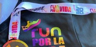 Run por la Vida Camisa y medalla