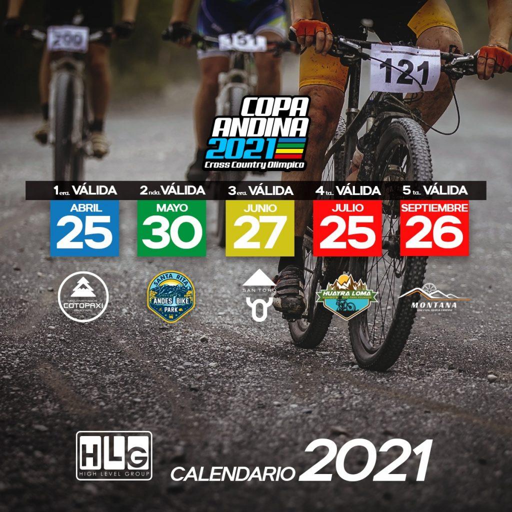 Calendario nuevo de La Copa Andina 2021