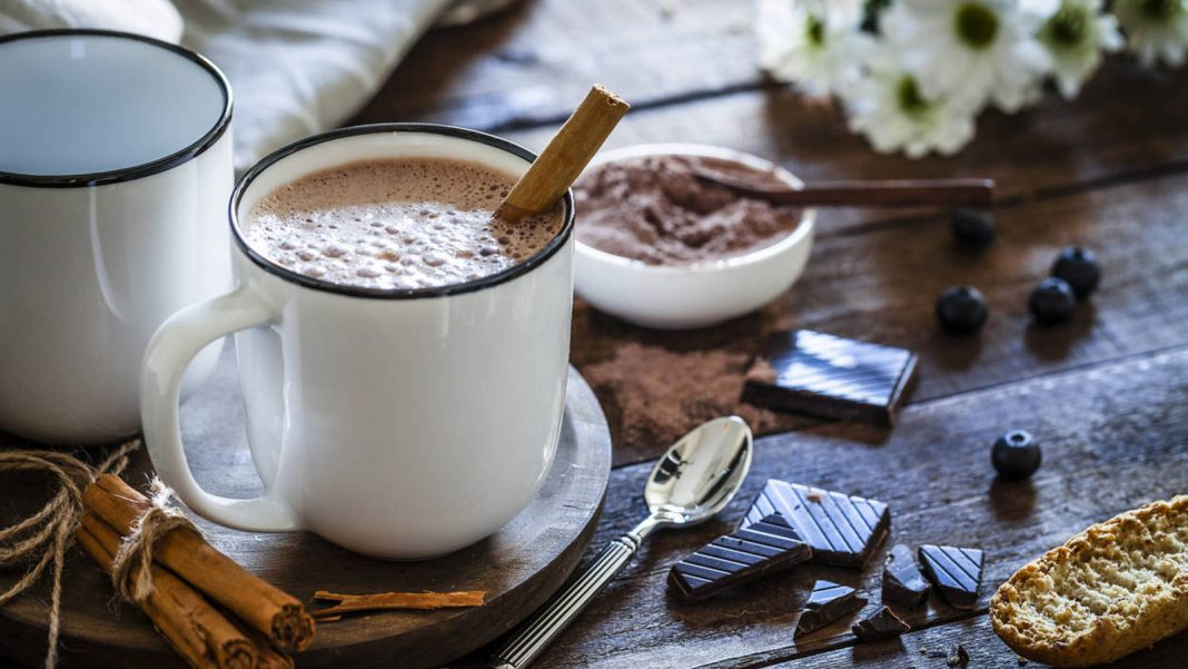 bebida de chocolate con leche