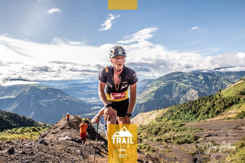 Karl Egloff quien rompió el récord en KM Vertical Petzl Trial Plus 2021