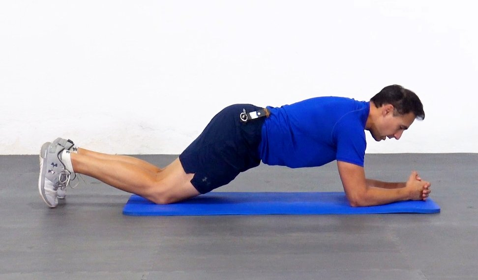 plancha abdominal corta