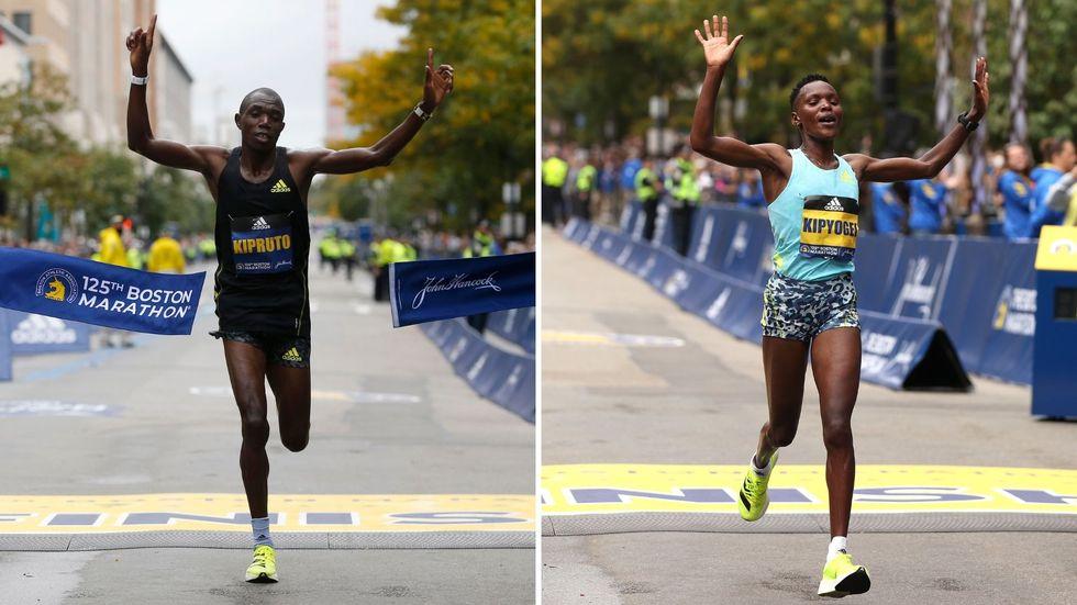 Ganadores del maratón de Boston