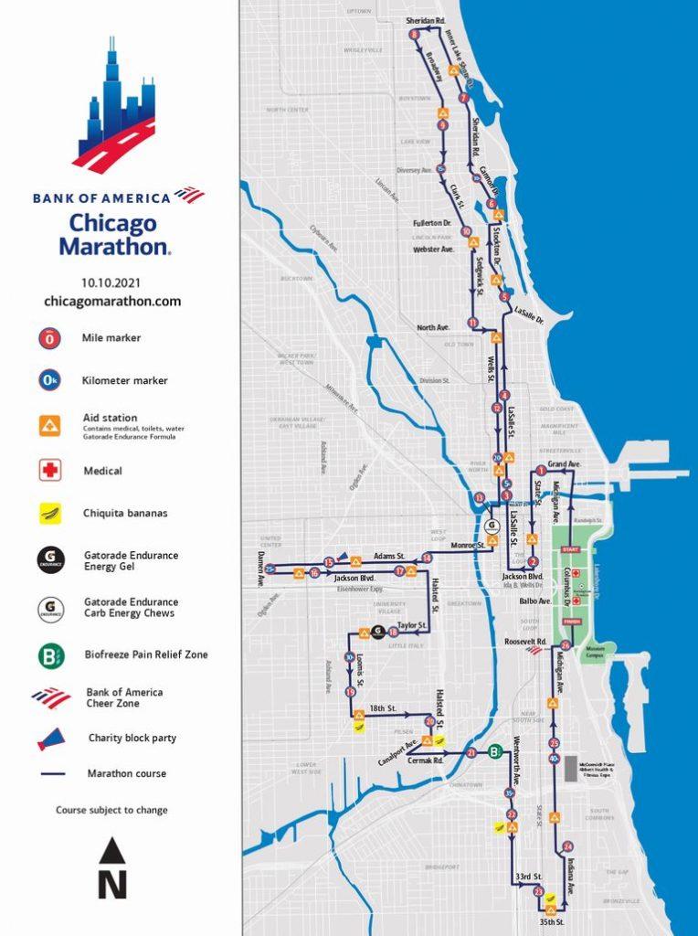Recorrido del Maratón de Chicago